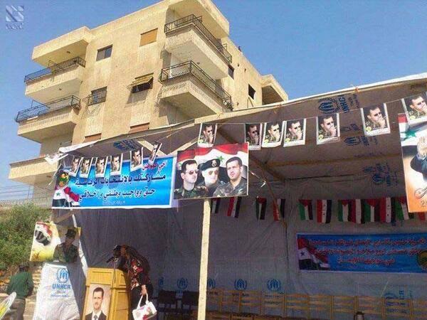 صورة من قنوات النظام تؤكد استخدام النظام المساعدات الأممية